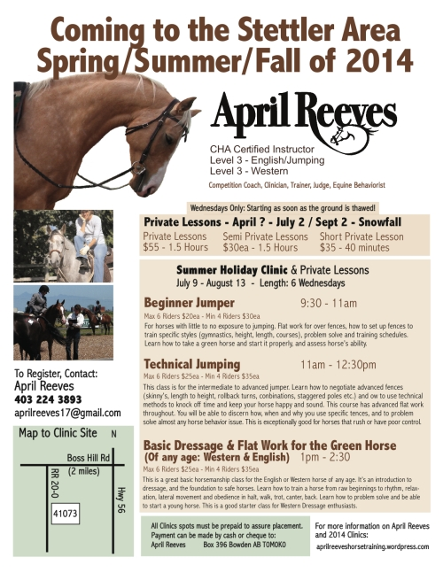 April Reeves Clinic 2014 Stettler AB
