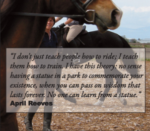 April Reeves Horsemanship Alberta Canada